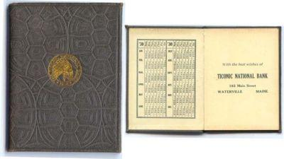 1930-31 Pocket Calendar/notebook TICONIC NATIONAL BANK, W...