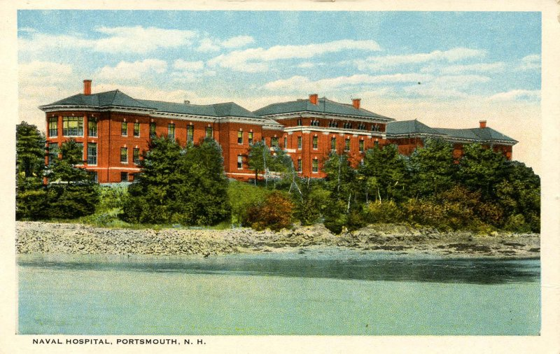 NH - Portsmouth. Piscataqua River and Naval Hospital