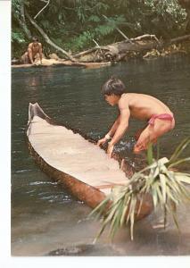 Postal 032320 : Indio Yanoama pescando. Venezuela