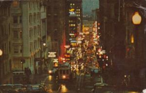 California San Francisco Powell Street At Night 1965