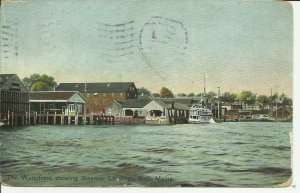Bath, Maine, The Waterfront, showing Steamer Lardings