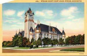 Washington Spokane County Court House Curteich