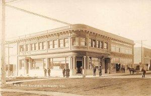 LPS77 Newberg Oregon Bank Building Postcard RPPC