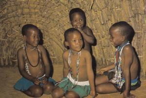 Zulu Children Wearing Beads Beadwork Postcard
