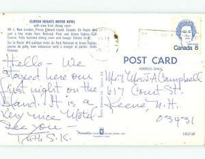 Bent Corner - Pre-1980 CLINTON HEIGHTS MOTEL New London PE o0683
