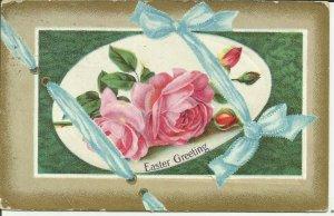 Easter Greetings -- Blue ribbon