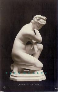1920 Vatican City Real Photo Postcard: Nude 'Knieende Venus' Sculpture