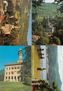 Lago D'Orta Orta S Guilio Villa Pie Crespi 4x Postcard s