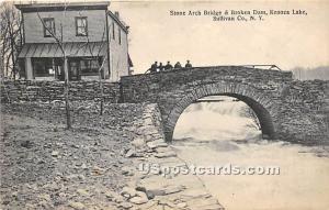 Stone Arch Bridge Kenoza Lake NY 1911