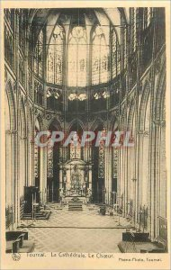 Old Postcard Tournai the Cathedral Choir