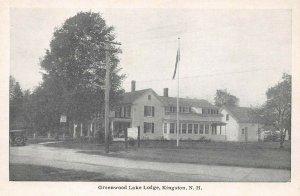 LPS90 Kingston New Hampshire Greenwood Lake Lodge Vintage Postcard