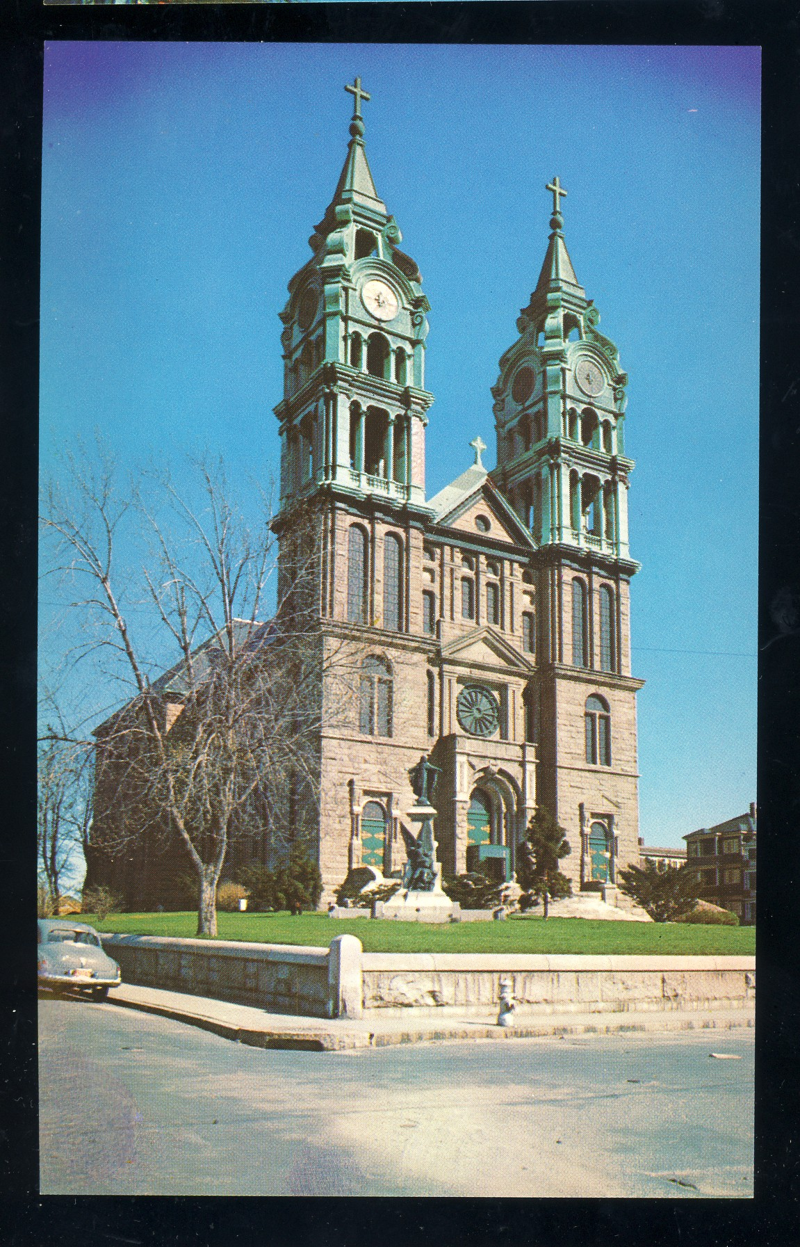 Fall River, Massachusetts/MA/Mass Postcard, Notre Dame Church