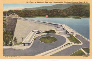 North Carolina Fontana Dam and Observation Platform Curteich