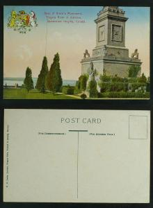 Base of Brock's Monument  Queenston Heights c 1920s