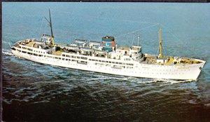 MIAMI, view of Ariadne, cruise ship built 1951 for Eastern Steamship,  1960s