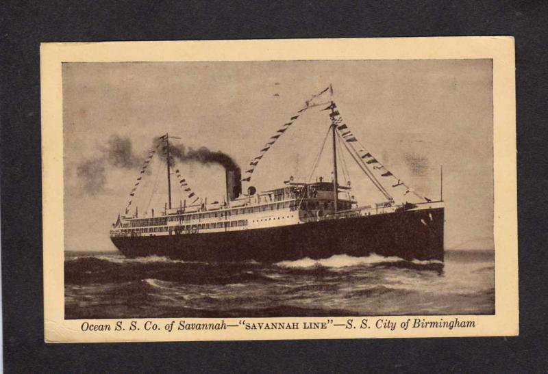 Ocean SS Co, Savannah, SS City of Birmingham, Alabama, Steamer, Steamship