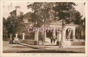 Postcard Old Vichy Thermal Establishment Park Lardy Automotive