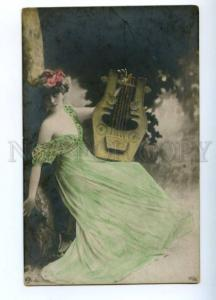 175559 GODDESS Belle DANCER Fairy LYRE Vintage PHOTO PC