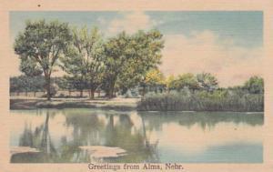 Nebraska Greetings From Alma
