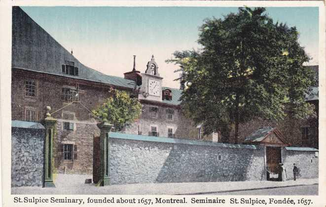 Saint Sulpice Seminary - Founded about 1657 - Montreal QC, Quebec, Canada - WB