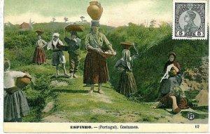 02386 ETHNIC vintage postcard: PORTUGAL - ESPINHO