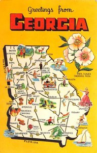 Greetings from Georgia USA Postcard 1971
