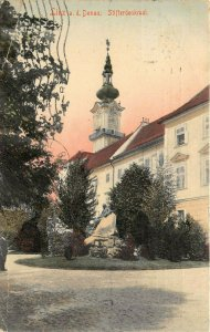 Linz Austria 1908 Hand Colored Postcard Stifterdenkmal Posted to USA