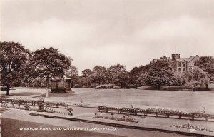Sheffield University & Weston Park Real Photo Vintage Postcard