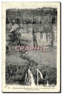 Old Postcard Baume les Messicurs The Source of the Sting & # 39entree caves