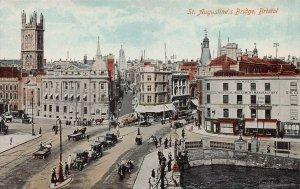 St. Augustine's Bridge, Bristol, England, Great Britain, early postcard