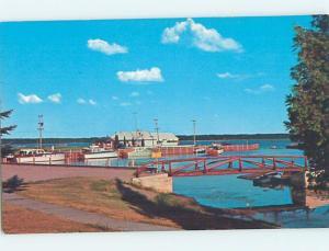 Pre-1980 HARBOR SCENE Gladstone - Near Wells & Escanaba Michigan MI hp7447