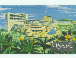 Unused Pre-1980 VIRGIN ISLE HOTEL St. Thomas USVI hr6050