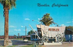 Welcome Sign on Highway 66, Needles, CA, California, Chrome,