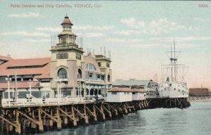 VENICE , California , 1900-10s ; Palm Garden & Ship Cabrillo