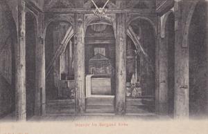 Interior Fra Borgund Kirke, Norway, 1900-1910s