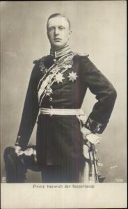 Netherlands Prince Prinz Heinrich Der Niederlande c1905 Real Photo Postcard
