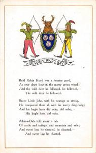 Robin Hood's Bay, bows, emblem Bold Robin Hood was a forester good