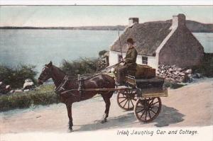 Irish Jaunting Car and Cottage