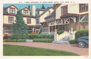 Front Entrance to Bonclarken Hotel, Flat Rock North Carolina 1930-40s