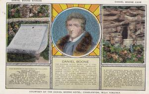 CHARLESTON , West Virginia , 1930-40s ; Daniel Boone, Marker and Cave