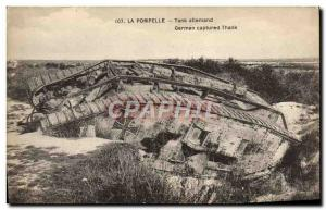 Postcard Old Army Tank Pompelle The German Tank