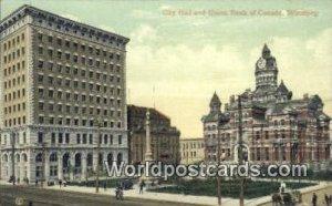 City Hall & Union Bank Winnipeg Canada 1909 Missing Stamp