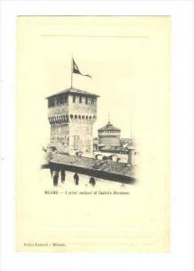 MILANO - I primi restauri al Castello Sforzesco , ITALY, 1890s-1905