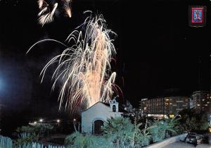 Spain Puerto de la Cruz Tenerife En fiestas Fireworks Night view