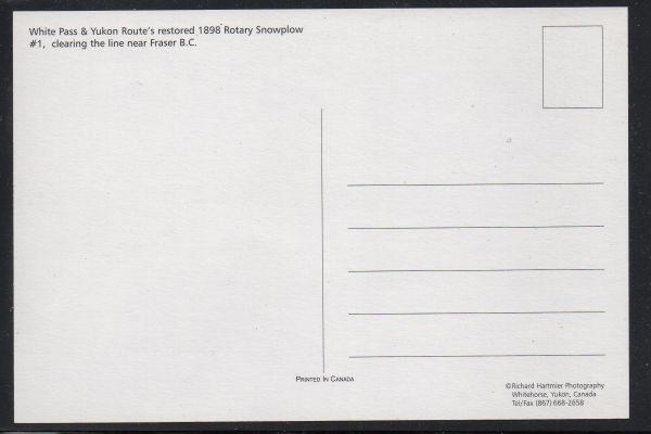 White Pass & Yukon RR  1898 Rotary Snowplow unused