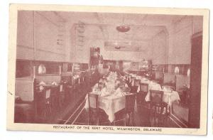 Restaurant Kent Hotel Wilmington DE Interior 1940