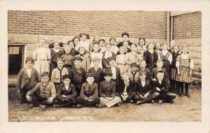 Lost Nation Iowa~School Kids Group Picture~Outside~1918 Real Photo Postcard~RPPC