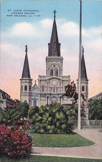 Saint Louis Cathedral Jackson Square New Orleans Louisiana 1941