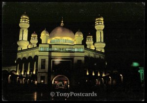 Brunei Darussalam - The Jame' 'Asr Hassanil Bolkiah Masque at night