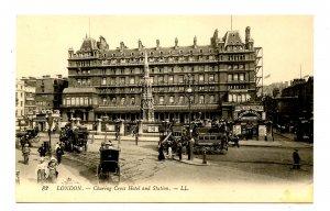 UK - England, London. Charing Cross Hotel & Station